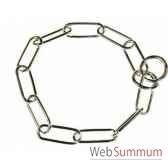 collier etrangleur metal80 cm fi4 sellerie canine vendeenne 20580