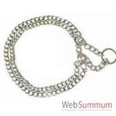 collier 1 2 etrangleur 2 rangs 60 cm sellerie canine vendeenne 20660