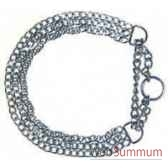 collier 1 2 etrangleur chrome 3 rangs 60 cm sellerie canine vendeenne 20960