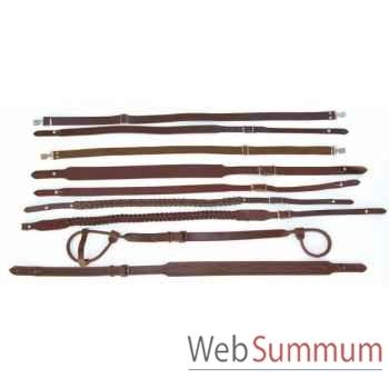 Bretelle de fusil cuir marron 25mm montage boucle Sellerie Canine Vendéenne 25501