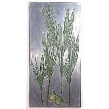 Décoration murale-Modèle Coconut Wall Plaque, surface aluminium-bs3282alu