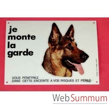 """Plaque""""je monte la garde"""" g.m. Sellerie Canine Vendéenne 27101"""