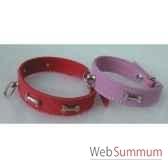 collier vachette nubuck 22 mm 32cm motif os boucnick sellerie canine vendeenne 31276