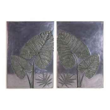 Décoration murale-Modèle Taro Wall Plaque Set, surface aluminium-bs4100alu
