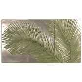 decoration murale modele palm triptych surface aluminium bs4128alu