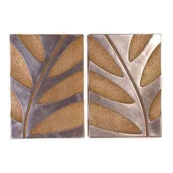 Décoration murale-Modèle Foliage Wall Decor S/2, surface aluminium avec rouille-bs4133alu/rst
