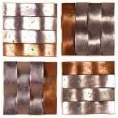 decoration murale modele onda walpaneset de 4 surface aluminium avec bronze nouveau bs4138alu nb