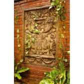 decoration murale modele waldecor griffin motif surface rouille bs2602rst