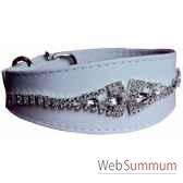 collier whippet cuir facon agneau 48cm arum de strass sellerie canine vendeenne 34834