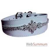 collier cuir facon agneau whippet 40 cm edelweiss sellerie canine vendeenne 34837