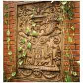 decoration murale modele waldecor griffin motif surface pierre romaine bs2602ros