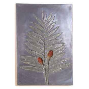 Décoration murale-Modèle Torch Ginger Negative Wall Plaque, surface aluminium-bs2309alu