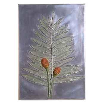 Décoration murale-Modèle Torch Ginger Positive Wall Plaque, surface aluminium-bs2308alu