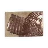 decoration murale modele mesopotamia surface gres avec bronze bs2312sa nb