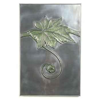 Décoration murale-Modèle Grape Vine Wall Plaque, surface aluminium-bs2314alu