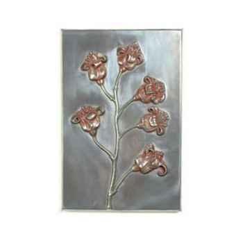 Décoration murale-Modèle Poppy Wall Plaque, surface aluminium-bs2313alu