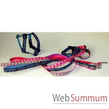 Collier sangle imprimee fermoir plastique l. 25-30cm Sellerie Canine Vendéenne 38715