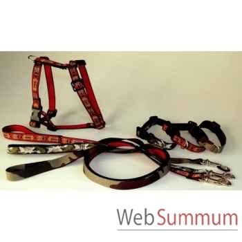 Collier sangle imprimee fermoir plastique l. 30-40cm Sellerie Canine Vendéenne 38720