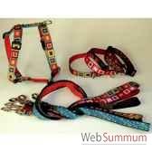 collier sangle imprimee fermoir plastique 40 50 cm sellerie canine vendeenne 38725
