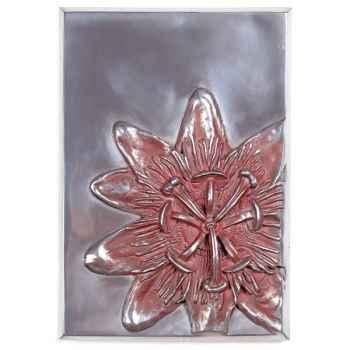 Décoration murale-Modèle Passiflora Wall Plaque, surface aluminium-bs2394alu