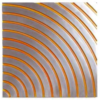 Décoration murale-Modèle Concentric Wall Panel Junior, surface métal aluminium patiné or-bs2397alu/or