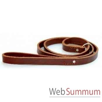Laisse cuir pleine fleur non double 19 mm avec anneau l. 1.50m Sellerie Canine Vendéenne 61702