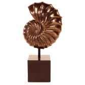 sculpture modele nautilus table sculpture box pedestasurface bronze nouveau et fer bs1713nb iro