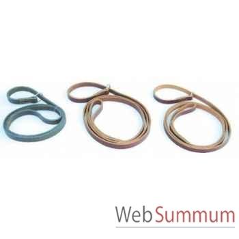 Laisse cuir en huile 15 mm l. 1.20m avec anneau  Sellerie Canine Vendéenne 72802