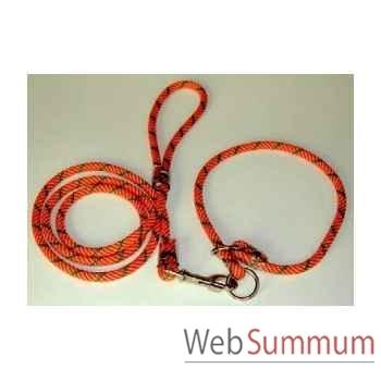 Longe cordo-ronde en 11mml. 2 m avec 2 poignees Sellerie Canine Vendéenne 74522
