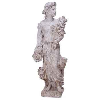 Sculpture-Modèle Goddes of Spring, surface pierres granite-bs3133gry