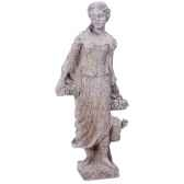 sculpture modele goddes of autumn surface pierres granite bs3134gry