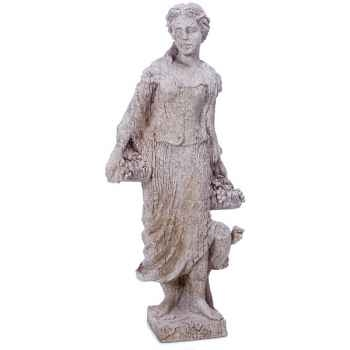 Sculpture-Modèle Goddes of Autumn, surface pierres granite-bs3134gry