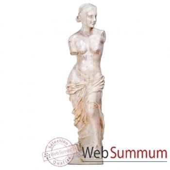 Sculpture-Modèle Venus de Milo, surface pierre albâtre blanc-bs3135alaw