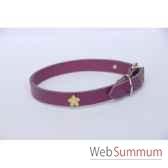 collier cuir classique 18mm 45 cm fleur peinte sellerie canine vendeenne 80354