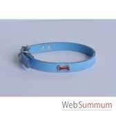 collier cuir classique 10mm 31 cm os peint sellerie canine vendeenne 80370