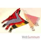 collier bandana vichy 26 mm 60 cm sellerie canine vendeenne 80461