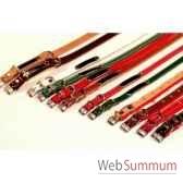 collier cuir classique double feutrine avec clous 36 cm sellerie canine vendeenne 80514