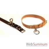 collier cuir classique d attache avec touret 56 cm sellerie canine vendeenne 80826