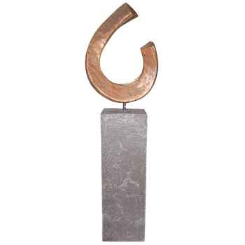 Sculpture-Modèle Apoy Garden Sculpture, surface aluminium-bs3411alu/alabnp