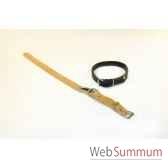 collier cuir pleine fleur non dble avec plaque 18mm 45 cm sellerie canine vendeenne 81418