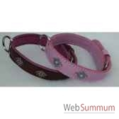 collier cuir classique dble 31 mm 45 50 55 cm motif mosaique sellerie canine vendeenne 82527