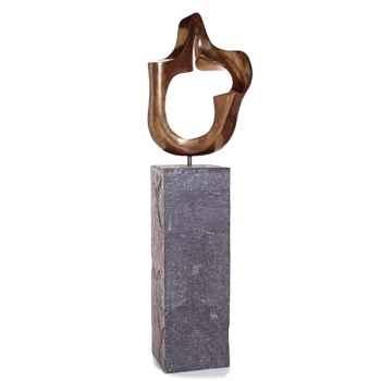 Sculpture-Modèle Moore Garden Sculpture, surface bronze nouveau-bs3312nb/alab