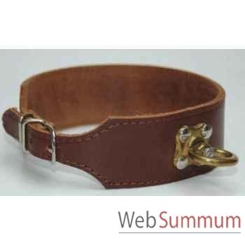 Collier cuir en huile pour chien de sang  l. 35 cm Sellerie Canine Vendéenne 82835