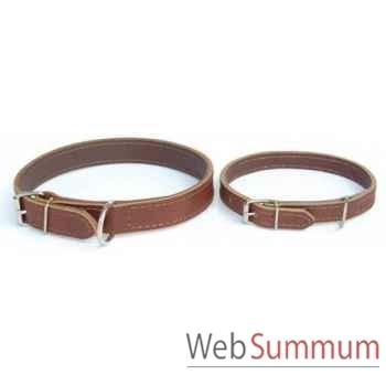 Collier cuir en huile double 31 mm l. 70cm Sellerie Canine Vendéenne 83032
