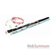 collier cuir classique 18 mm 45 cm motifs losanges sellerie canine vendeenne 83340