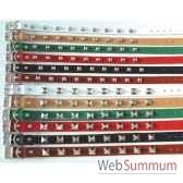 collier cuir classique non dble 1 rg clous pyram 26mm l56cm sellerie canine vendeenne 83353