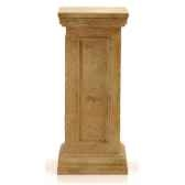 piedestaet colonne modele bristopodest medium surface marbre vieilli combines avec or bs1024wwg