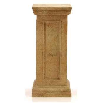 Piedestal et Colonne-Modèle Bristol Podest  Medium, surface marbre vieilli combinés avec or-bs1024wwg