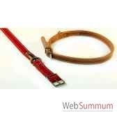 collier cuir classique double 22mm 62cm sellerie canine vendeenne 83403