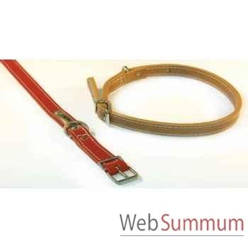 Collier cuir classique double 22 mm l. 68cm Sellerie Canine Vendéenne 83404
